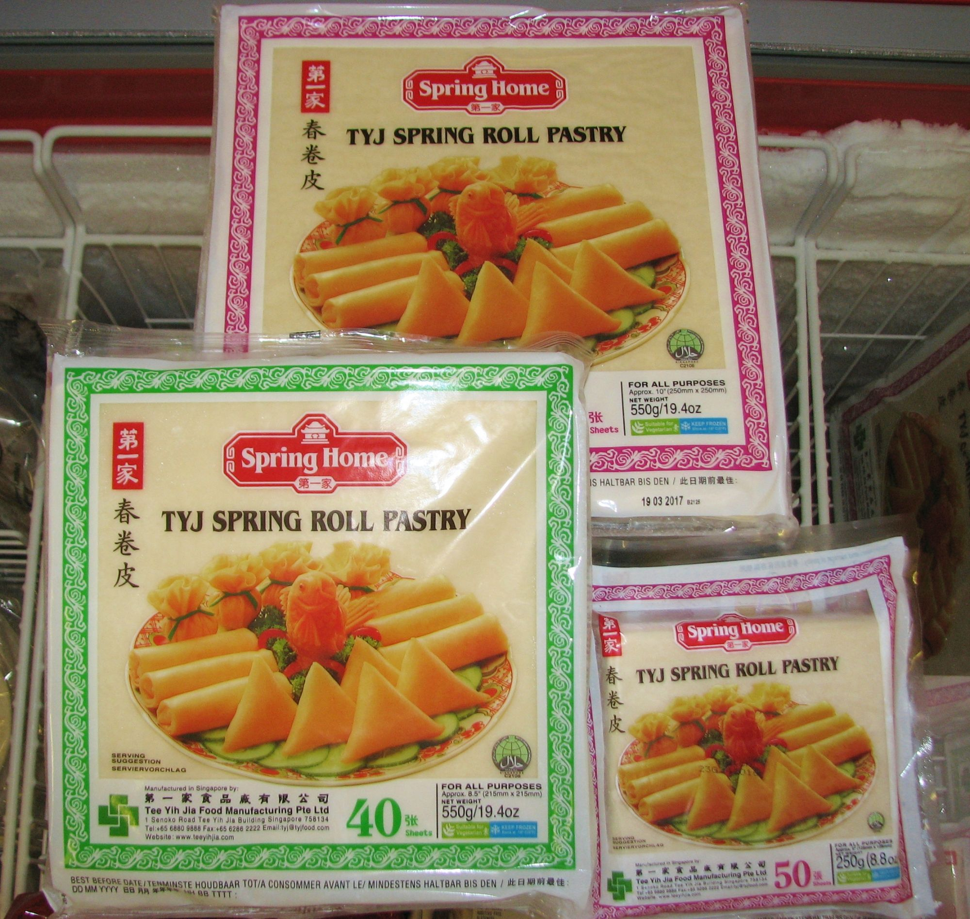 tyj spring roll pastry how to use
